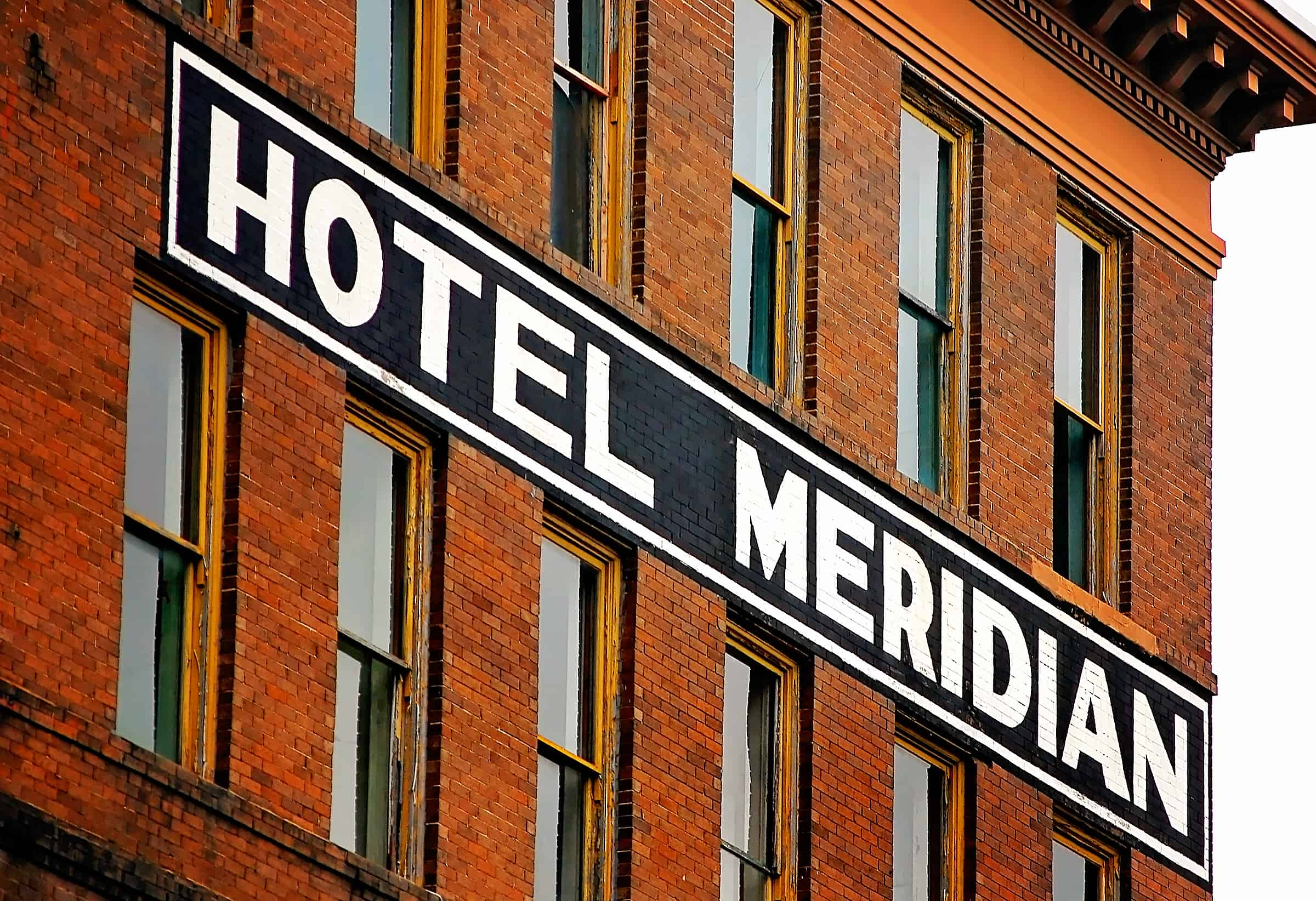 Abandoned Hotel Meridian in Meridian, Mississippi