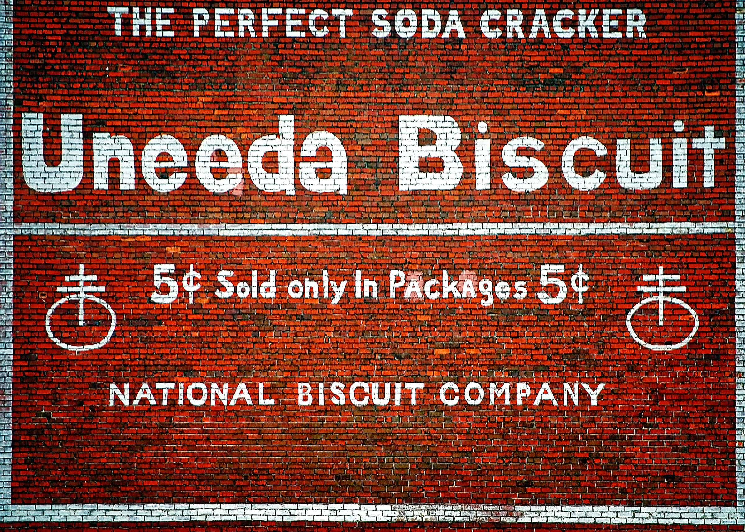 Uneeda Biscuit advertisement in Meridian, Mississippi