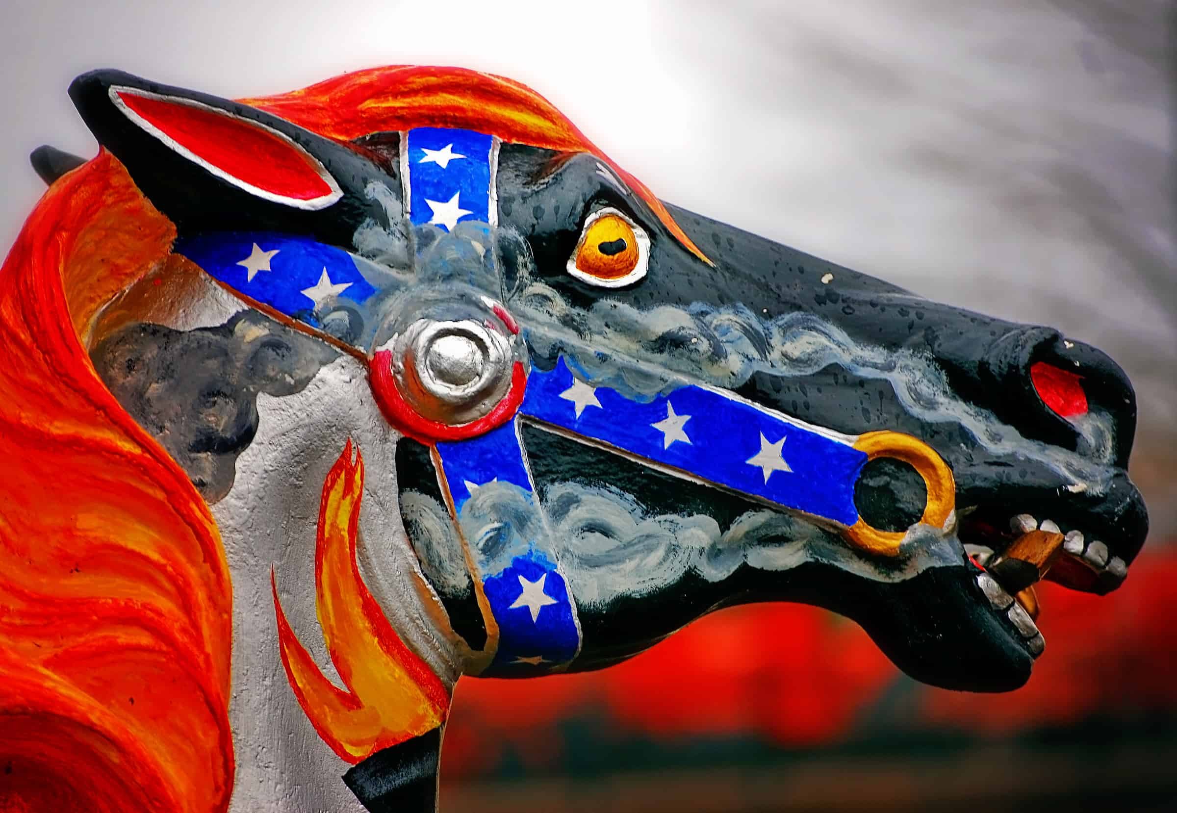 Carousel horse in Meridian, Mississippi