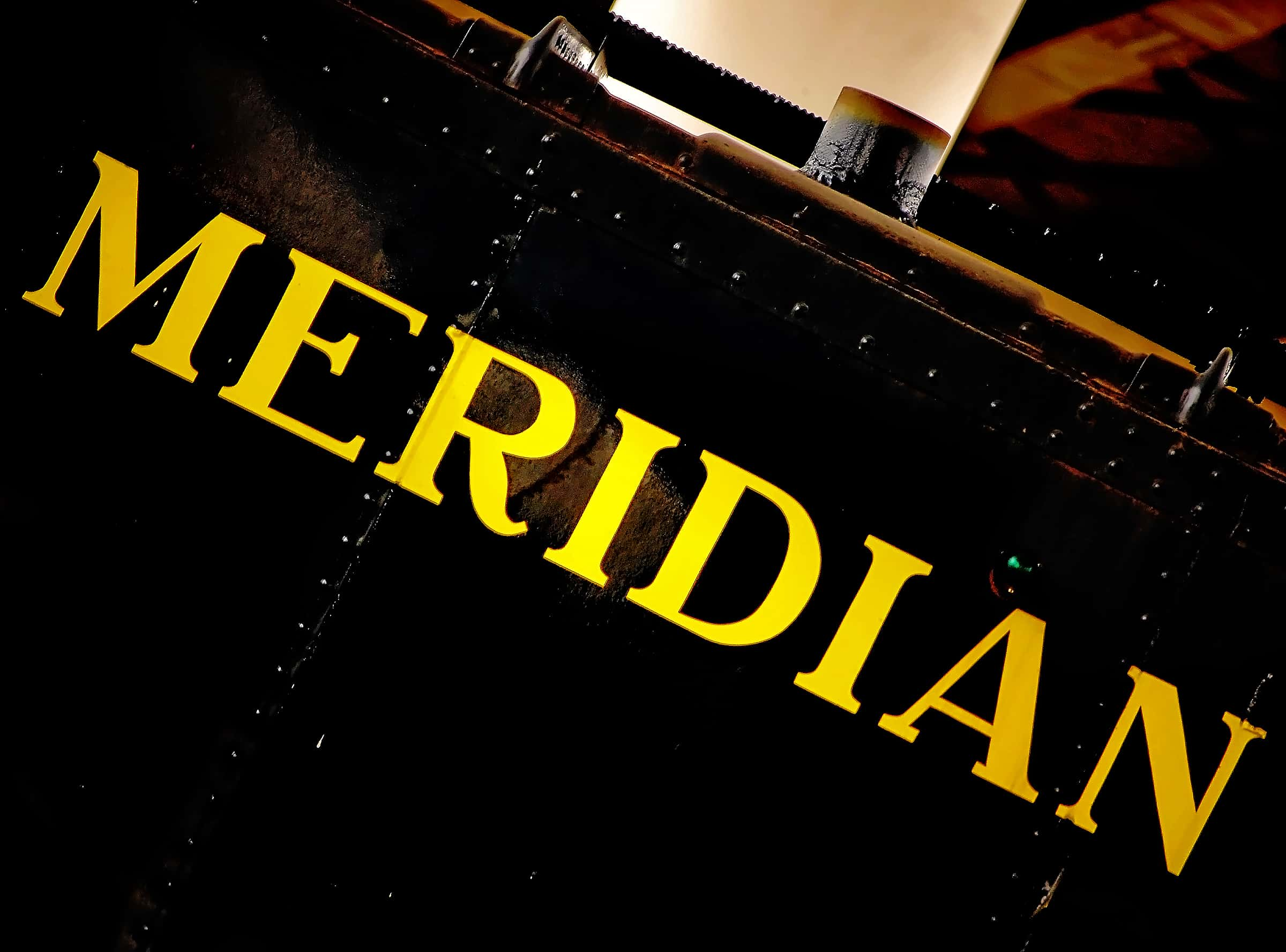 Meridian train sign