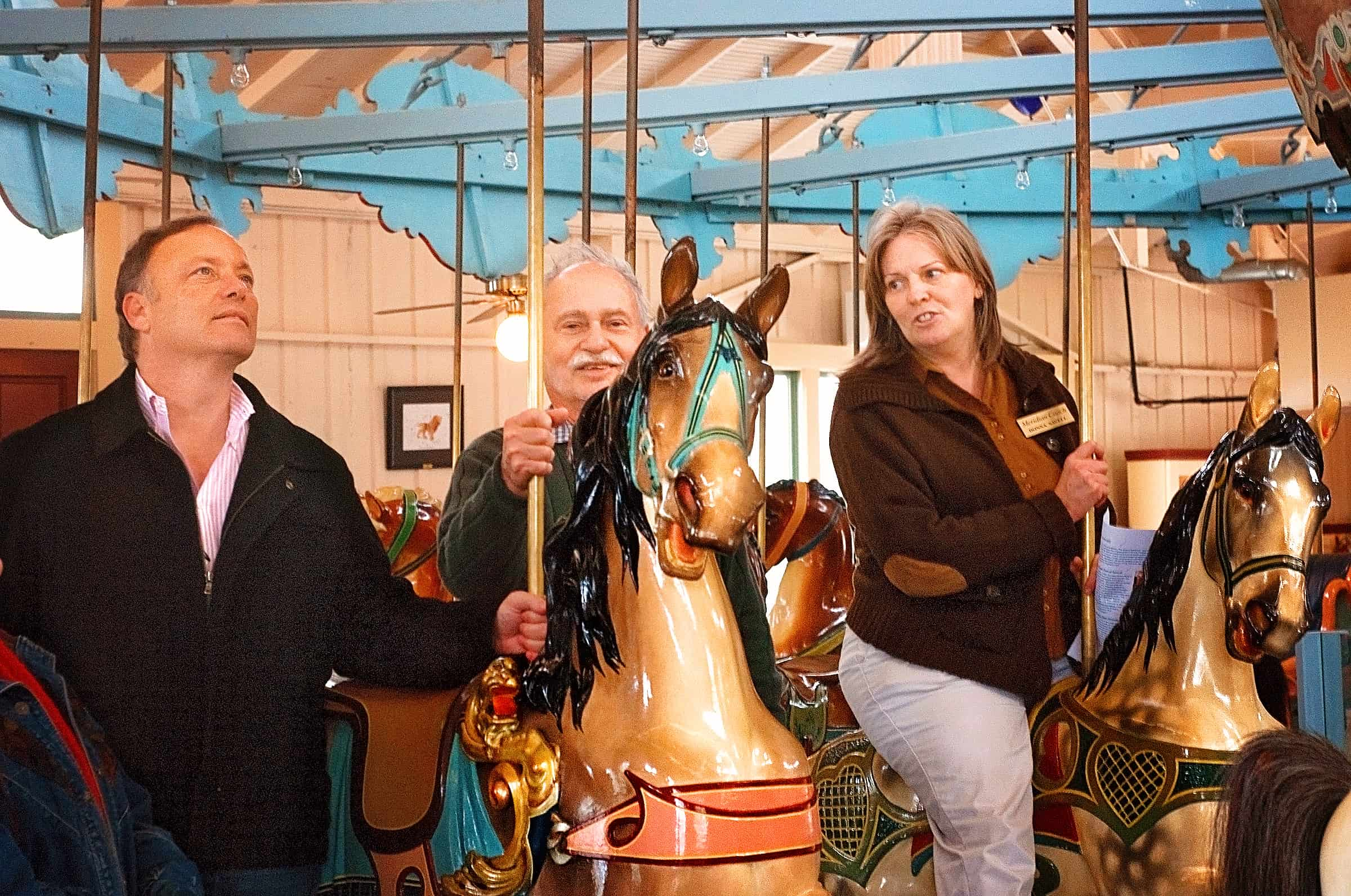 Riding the Dentzel Carousel in Meridian, Mississippi