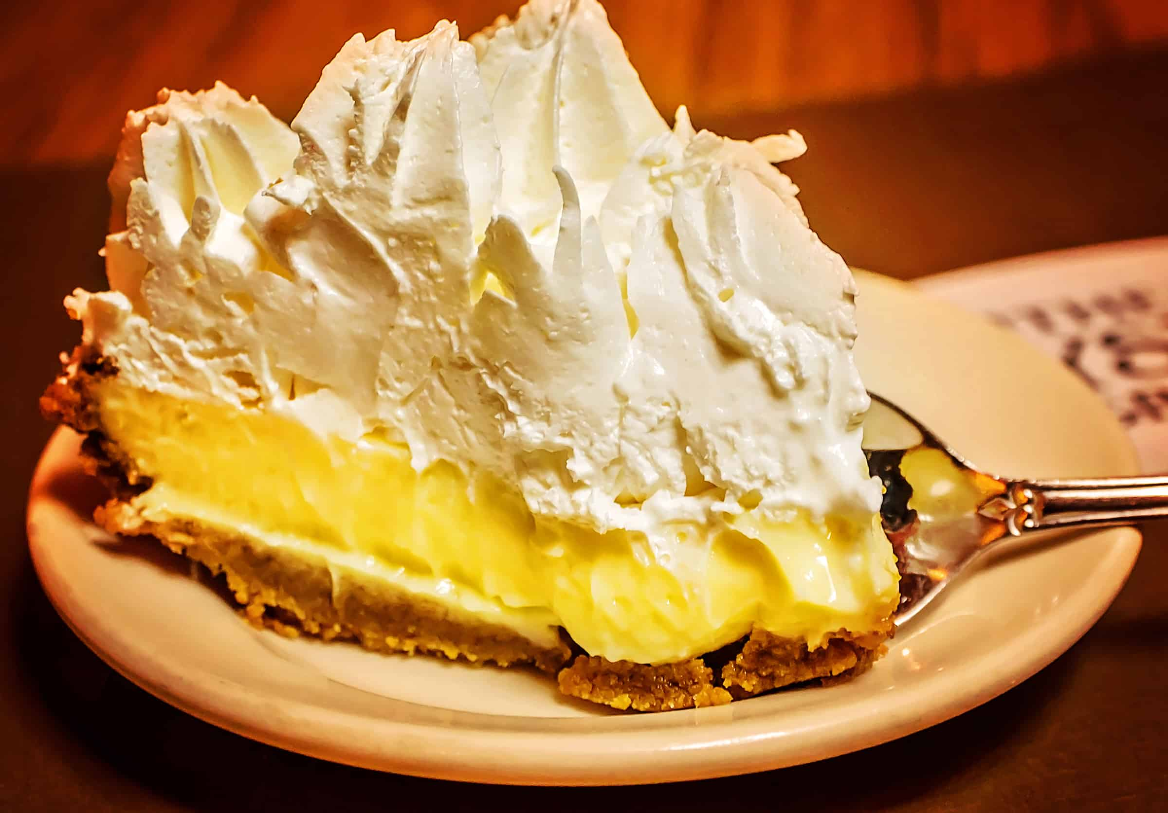 Lemon Icebox Pie at Crystal Grill in Greenwood, Mississippi