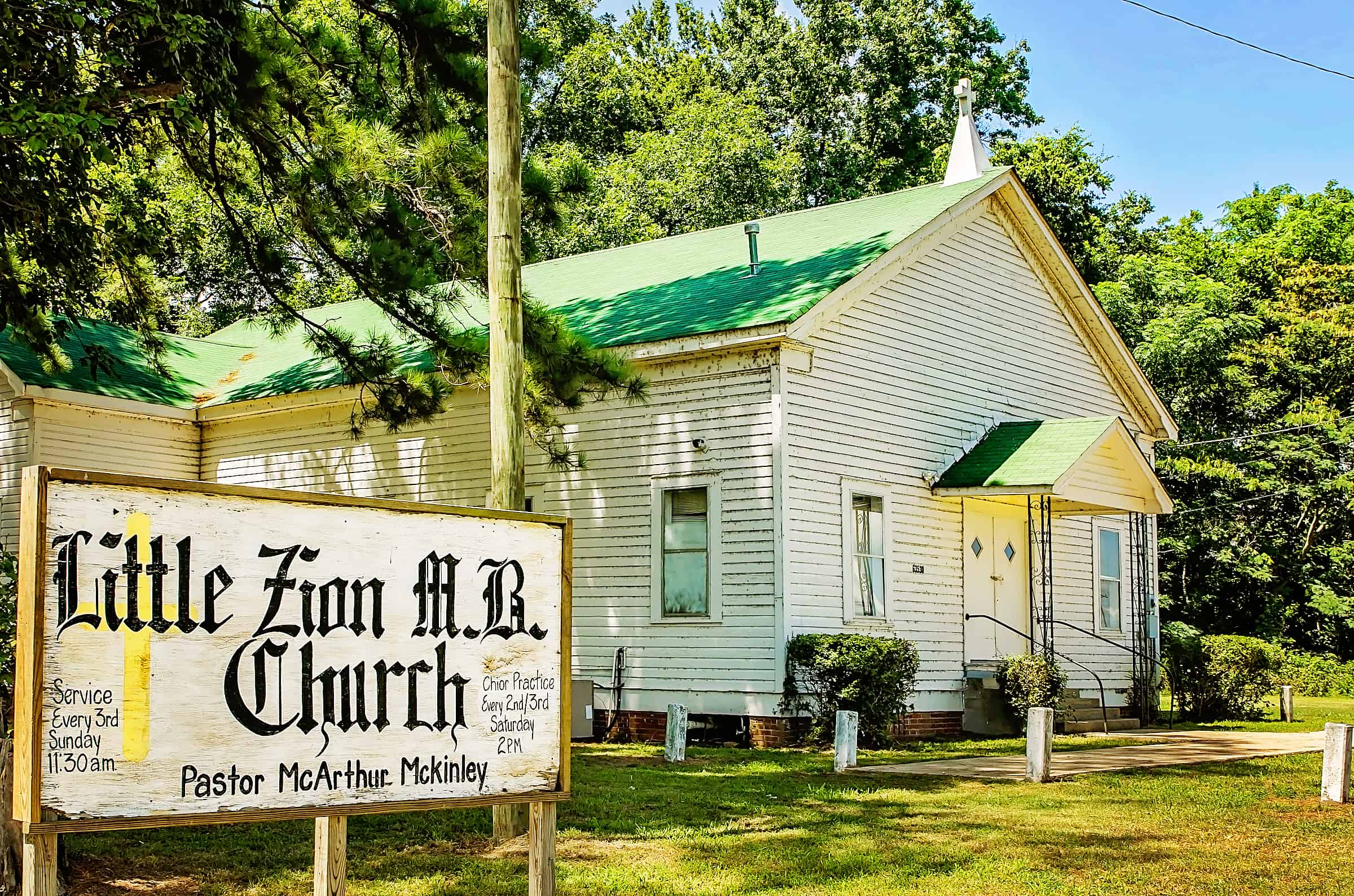 Little Zion Missionary Baptist Church in Greenwood Mississippi