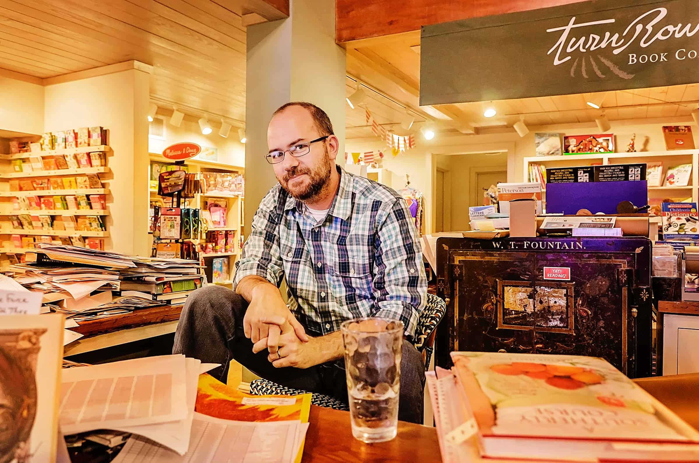 Jamie Kornegay, owner of TurnRow Book Company in Greenwood, Mississippi