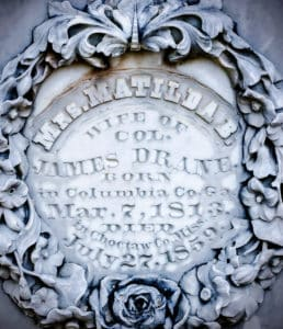 Ornate headstone in French Camp Mississippi
