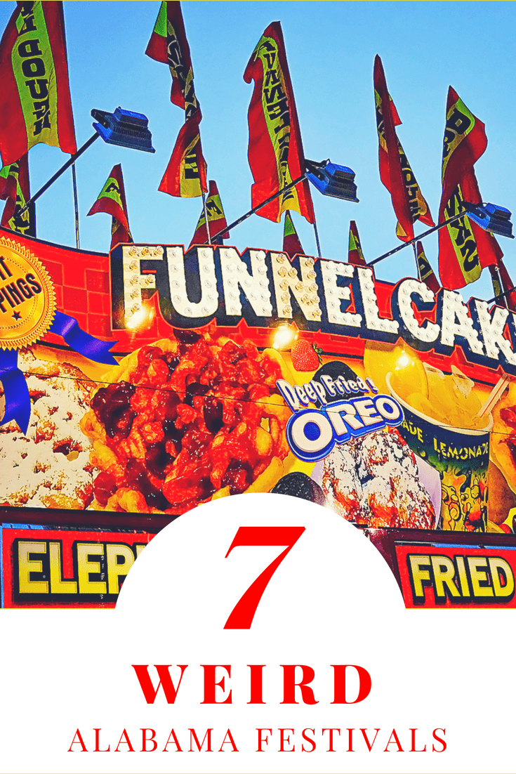 Funnel cake stand - 7 weird Alabama festivals