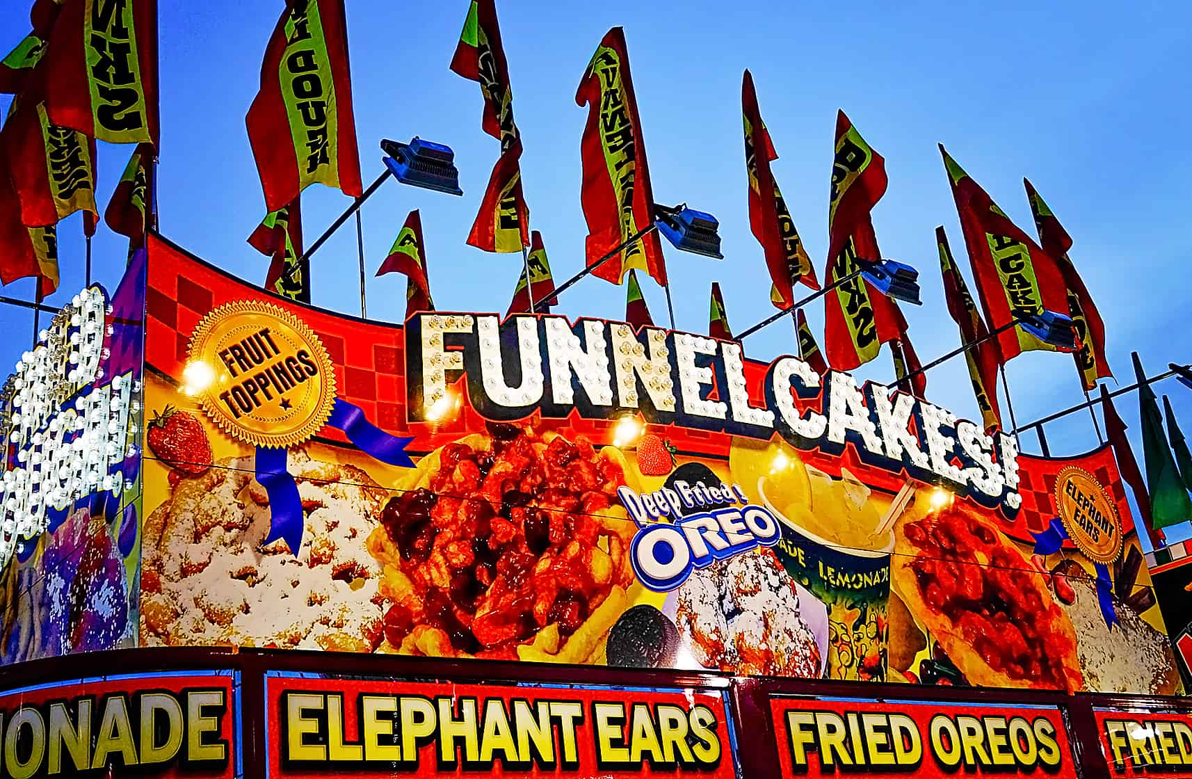 Funnel cakes make a frequent appearance at Alabama festivals