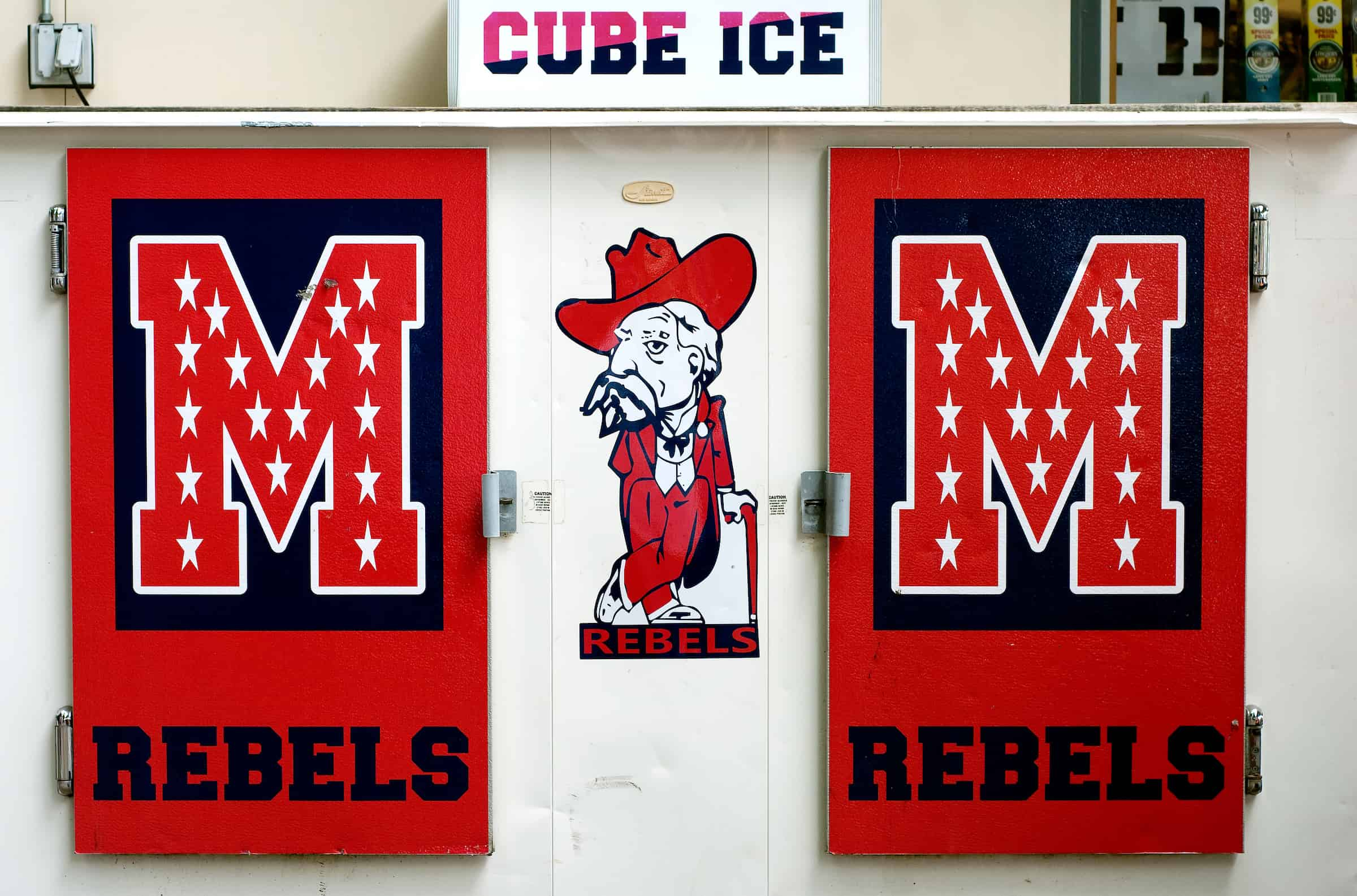 University of Mississippi Rebels sign