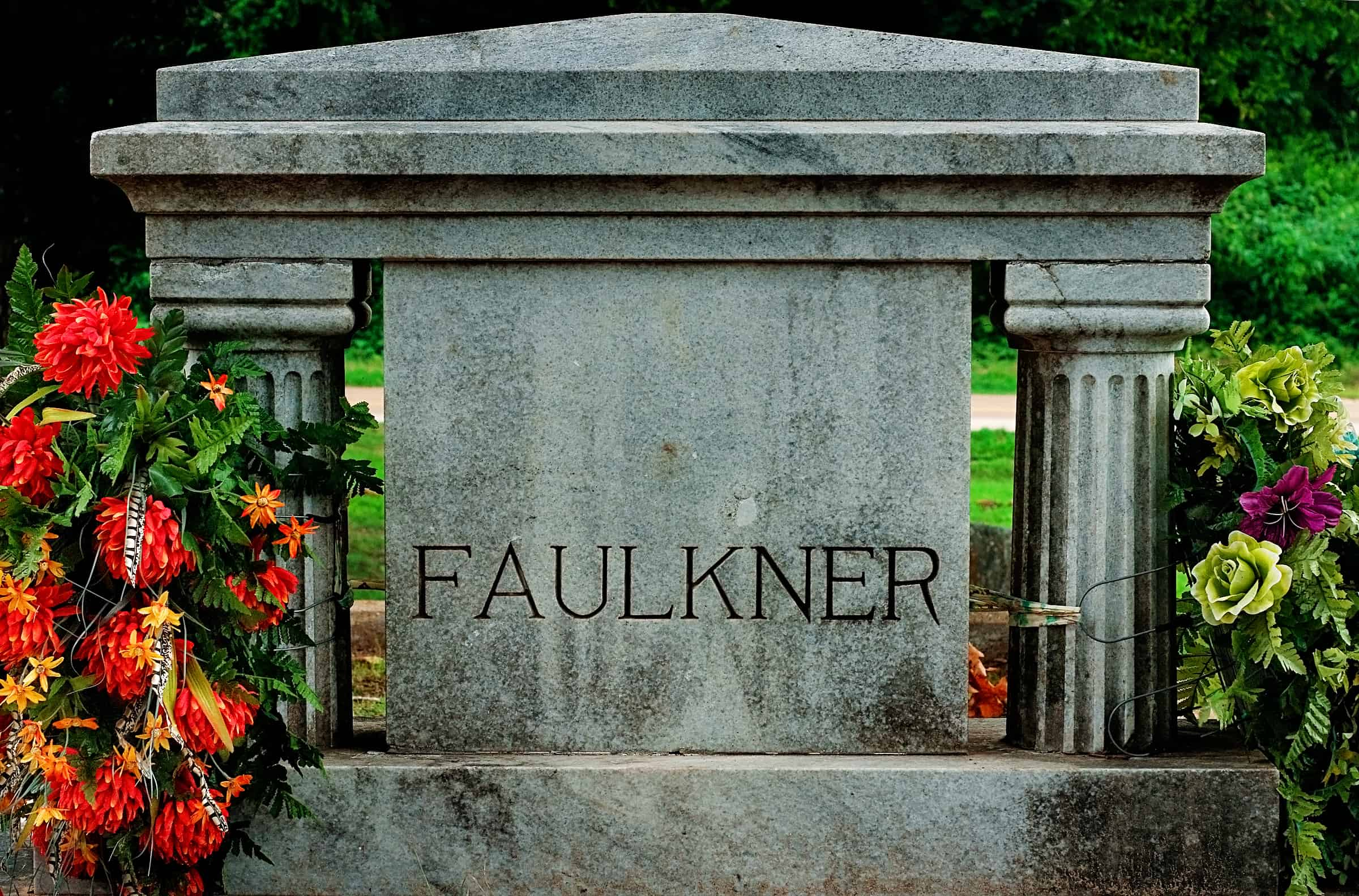 William Faulkner's grave in Oxford Mississippi